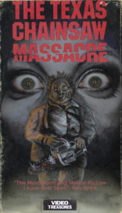 texas chainsaw massacre vhs box art face paint makeup