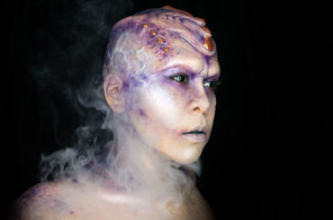 aurora alien makeup fx body paint sci fi creature purple star trek cosplay oc