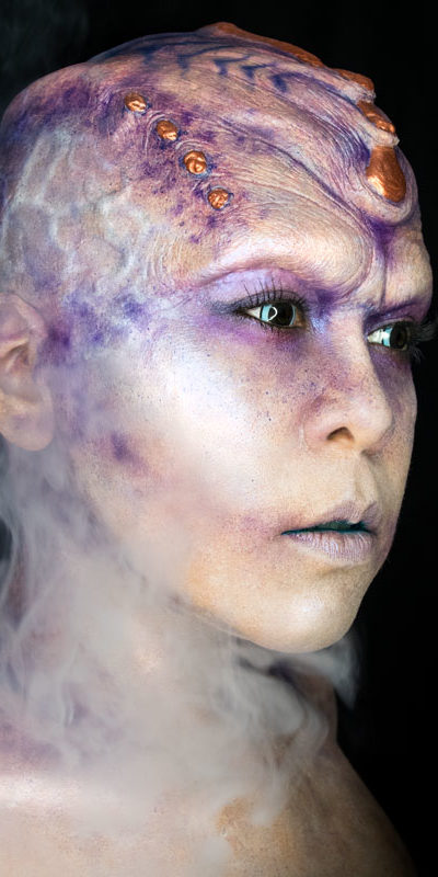 aurora alien makeup fx body paint sci fi creature purple star trek cosplay oc
