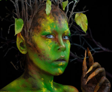 autumn makeup fairy elf fx body paint fantasy cosplay oc youtube creature