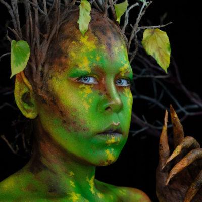 autumn makeup fairy elf fx body paint fantasy cosplay oc youtube creature