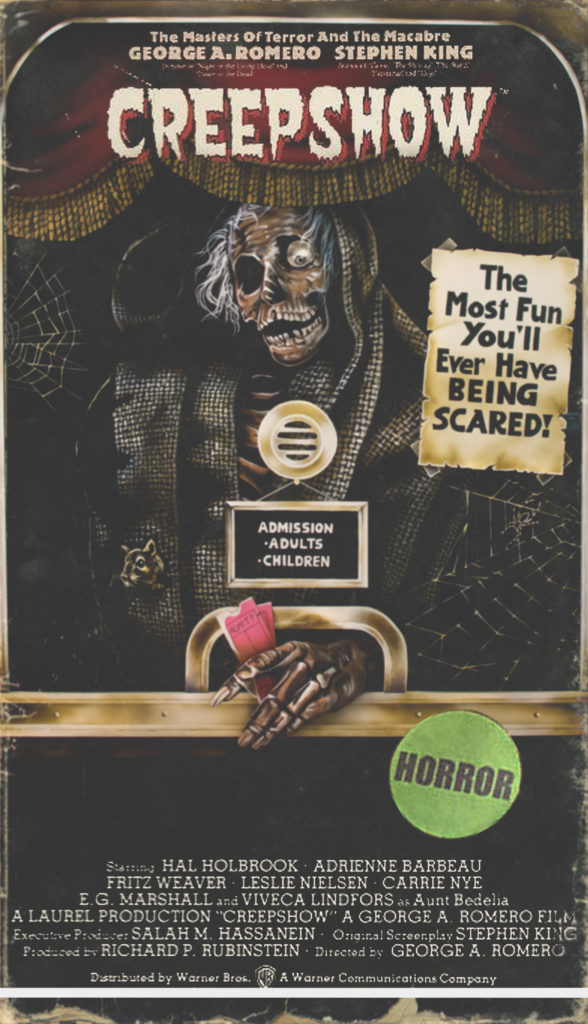 vhs box art series creepshow body paint fx makeup 80s cosplay youtube zombie