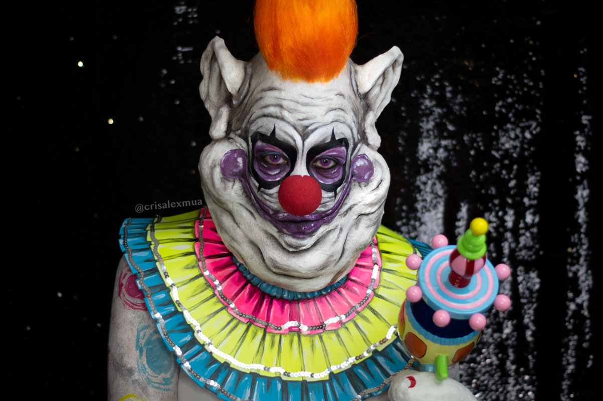 killer klowns from outer space series fx makeup body paint 80s cosplay youtube clown halloween fatso