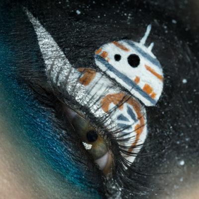 star wars bb8 eye makeup macro creative beauty