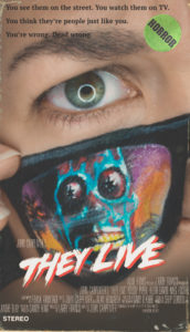 they live vhs cover face paint makeup scifi horror
