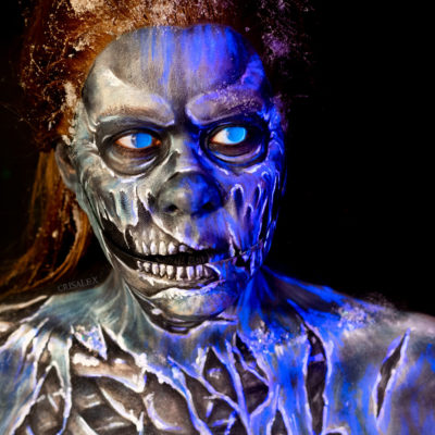 ultraviolet wight makeup uv game of thrones body paint white walker cosplay