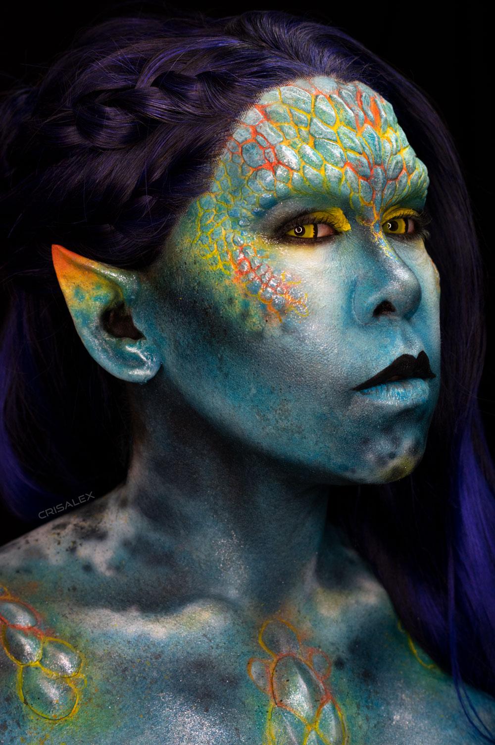 zale fx rbfx special effects makeup prosthetic alien mermaid body paint creature