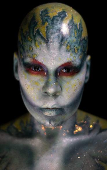 Sereia mermaid scifi alien fantasy makeup body paint creature creative