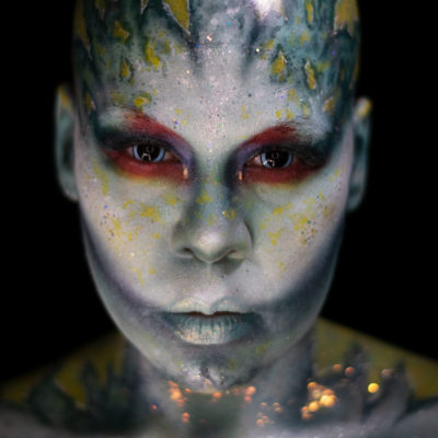 Sereia mermaid scifi alien fantasy makeup body paint creature creative