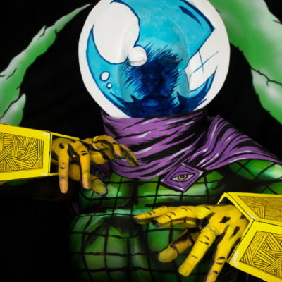 mysterio body paint cosplay makeup spiderman comic book