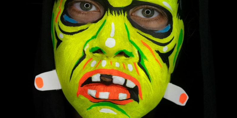 ben cooper frankenstein halloween mask face paint uv