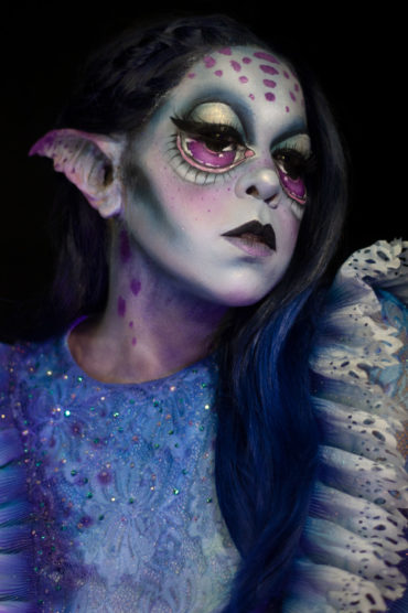 wonderland caterpillar nyx cosmetics makeup fantasy body paint big eyes makeup creature