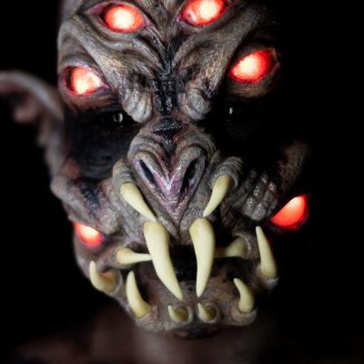 aranea eye fx makeup adafruit creature body paint glow monster foam latex spider mask