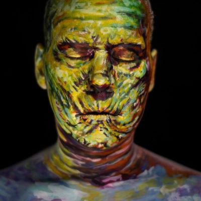 basil gogos mummy body paint halloween face makeup illusion