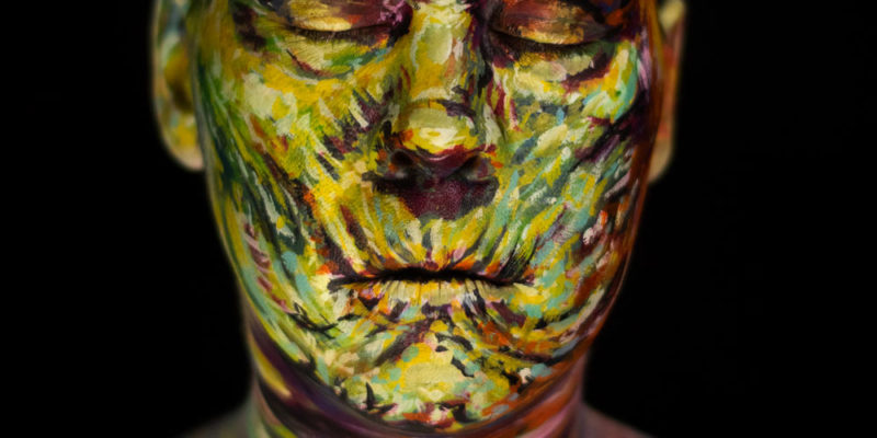 basil gogos mummy body paint halloween face makeup illusion