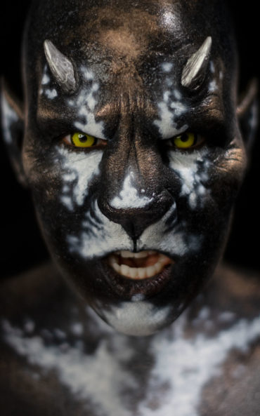 panthera woochie fx body paint makeup lion creature foam latex prosthetic