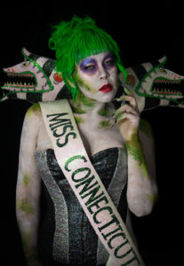 miss beetlejuice tim burton glam glitter makeup cosplay argentina sand worm