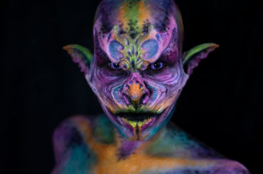 nova woochie foam latex creature monster fx makeup colorful body paint