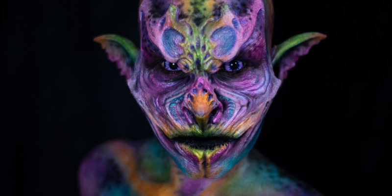 nova woochie foam latex creature monster fx makeup colorful body paint
