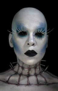 pintress 31 days halloween glam beauty horror pinhead avant garde editorial