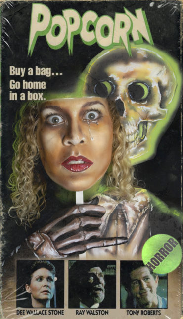 vhs box art series popcorn 1991 body paint optical illusion halloween horror