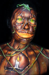 jack o lantern body paint 31 days of halloween pumpkin makeup creature fx