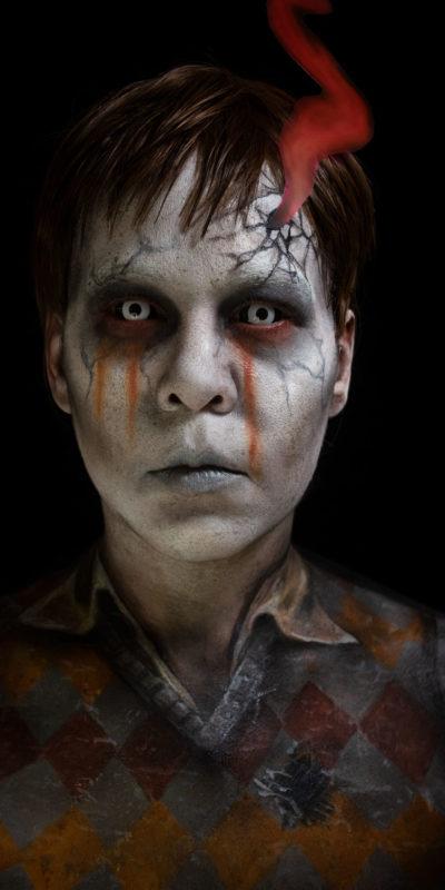 santi devils backbone ghost cosplay body paint makeup guillermo del toro youtube tutrorial