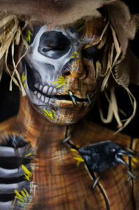 scarecrow 2019 body paint fx makeup skull halloween illusion
