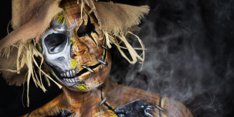 scarecrow 2019 body paint fx makeup skull halloween illusion