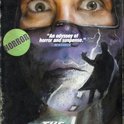 vhs box art series hitcher face paint horror optical illusion