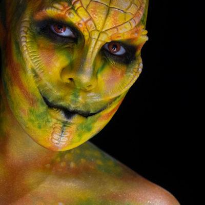 nagendra woochie fx foam latex reptile snake body paint makeup