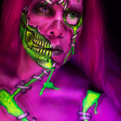 toxic zombie wet n wild fantasy makers uv colorful monster body paint