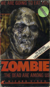 VHS Box art series zombie fulci zombi 1979 undead fx makeup body paint