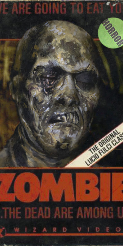 VHS Box art series zombie fulci zombi 1979 undead fx makeup body paint