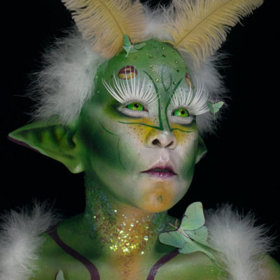 luna moth creature makeup creative body paint fx moth&myth