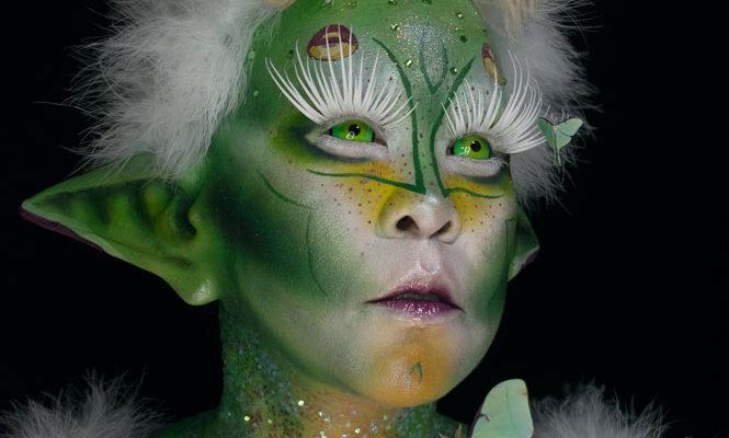 luna moth creature makeup creative body paint fx moth&myth