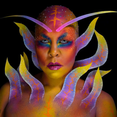 nudibranch colorful makeup body paint ABH