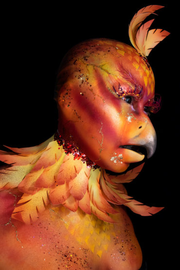 phoenix mythical creature fx makeup body paint