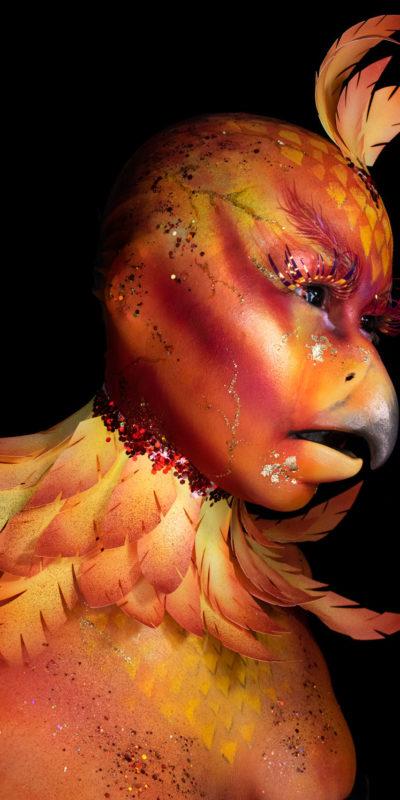 phoenix mythical creature fx makeup body paint