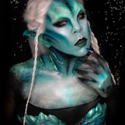 maebh siren fx cosplay makeup mermaid body paint