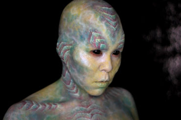 ara water alien fx makeup cosplay body paint fantasy scifi creature