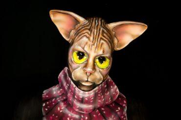 sphynx cat illusion makeup bodypaint crazy