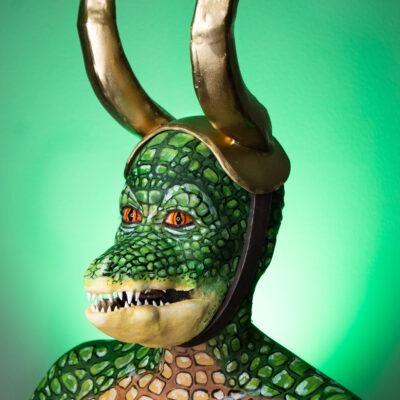 alligator loki variant fx makeup body paint cosplay croki
